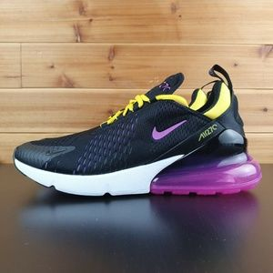 Nike Air Max 270 Running Shoes Black Magenta